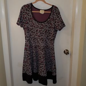 EUC Animal Print Sweater dress